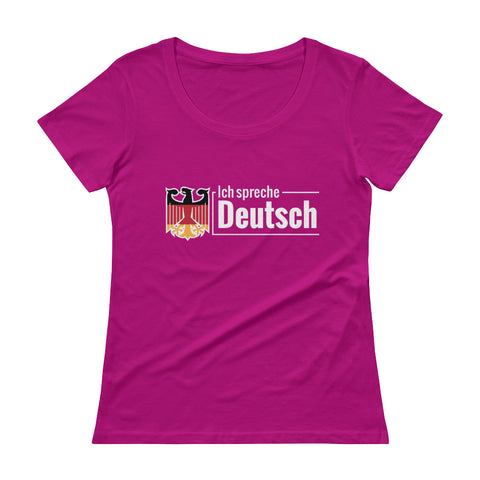 I speak German Ladies' Scoopneck T-Shirt