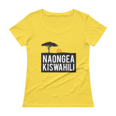 I speak Swahili Ladies' Scoopneck T-Shirt