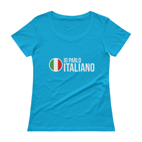 I speak Italian - Ladies' Scoopneck T-Shirt