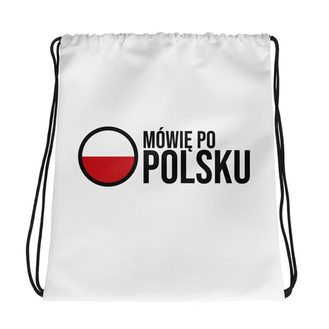 I speak Polish - Drawstring bag