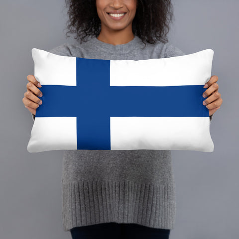 Finnish Flag Basic Pillow