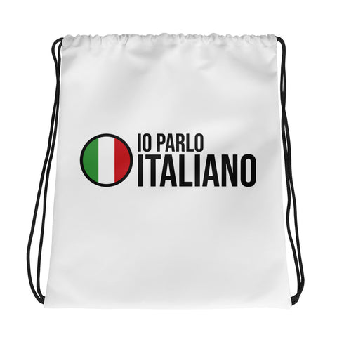 I speak Italian - Drawstring bag