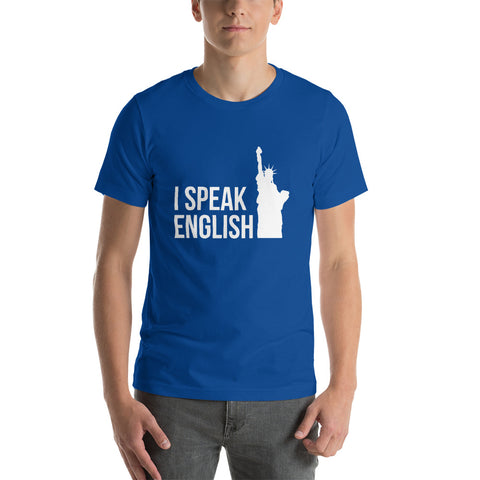 I speak English Short-Sleeve Unisex T-Shirt