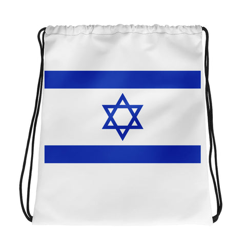 Israeli Flag Drawstring bag