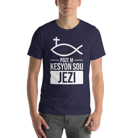 Ask me about Jesus - Haitian Creole - Short-Sleeve Unisex T-Shirt