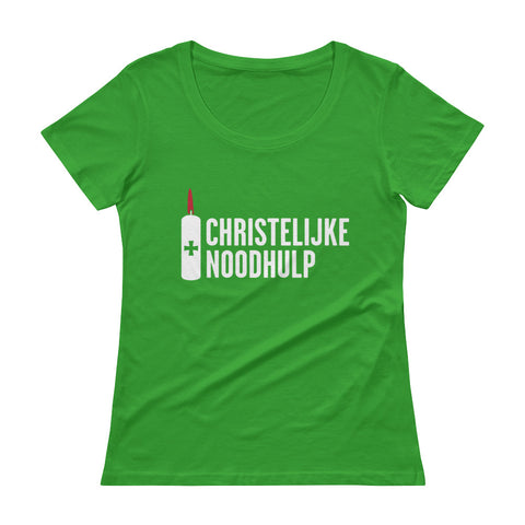 Christian Disaster Response Dutch Ladies' Scoopneck T-Shirt