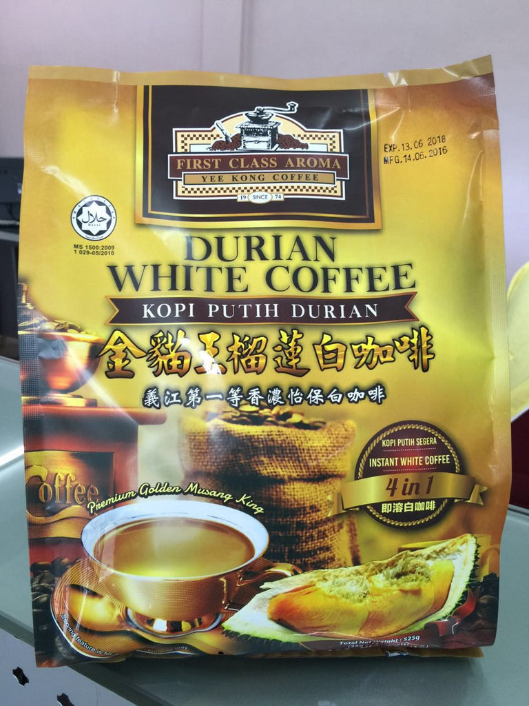 FCA Durian Flavored White Coffee