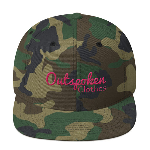 Outspoken Camo Pink Out Snapback Hat - Outspoken Clothes