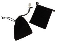 Velveteen Pouches-Black