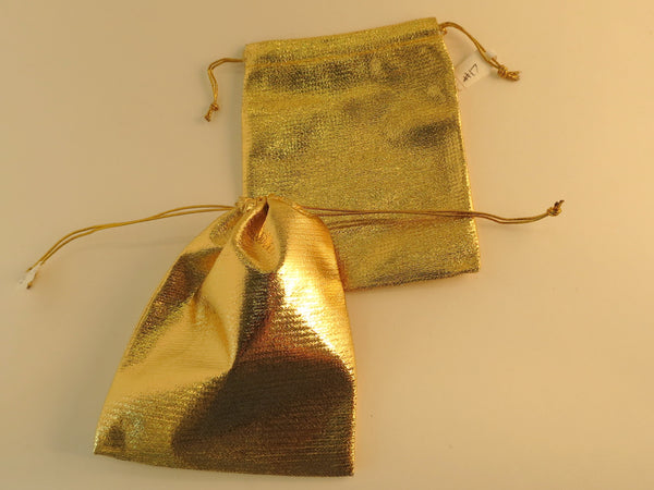 Velveteen Pouches-Gold
