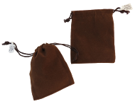 Velveteen Pouches-Brown