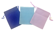 Velveteen Pouches-Pink
