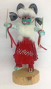 "Kachina Doll ""Ram"" Signed By V. Begay (Navajo)"