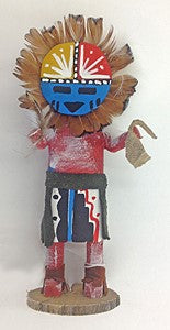 "Kachina Doll ""Sunface"" Signed (Navajo)"