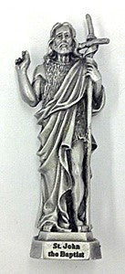 St. John the Baptist Pewter Statue