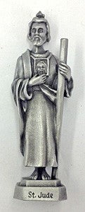 St. Jude Pewter Statue