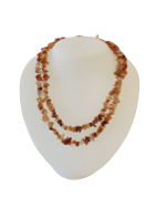 Carnelian Stone Chip Necklaces