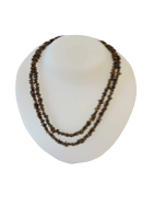 Brown Tiger Eye Stone Chip Necklaces