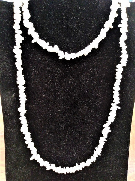 White Quartz Chip Necklaces