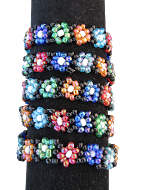 Daisy Beaded Stretch Elastic Bracelets