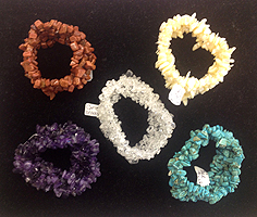 Stone Chip Bracelets-Dyed Howlite-Turquoise