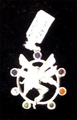Silver Plated Fairie w/7 Stones Pendants
