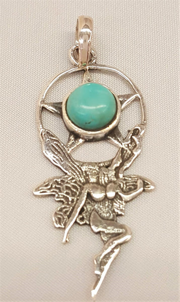 Sterling Silver Turquoise Fairy Pendants