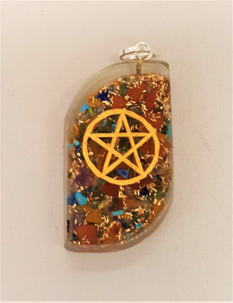 Organite Pendant with Pentacle
