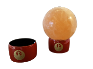 Red Lacquer Sphere Stand