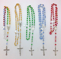 Crystal Bead Rosaries-Red