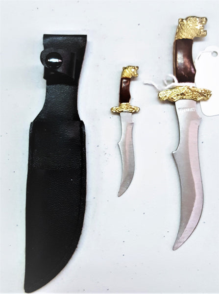 Tiger Head Twin Hunting Knives (Athame)