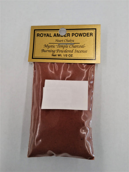 Royal Amber Powder Resin