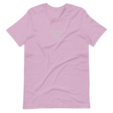 Lilac Manifest Those Coins Unisex T-Shirt