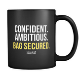 Bag Secured Black Mug - Coins and Connections