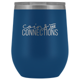 Coins And Connections Wine Tumbler