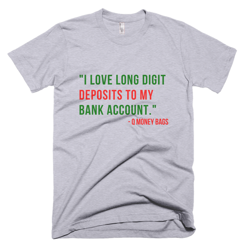 Long Digit Deposits Tee - Coins and Connections