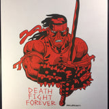 *Signed* DEATH FIGHT FOREVER Risograph Print - Laser Wolf Attack