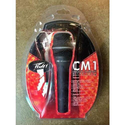 Peavey CM1 HH Condenser Microphone with clip, stand adapter, hardshell carrying case and 6 meter XLR cable