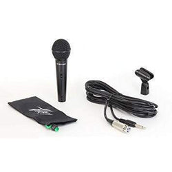 Peavey PV7 Microphone with mic clip, cable and storage bag.