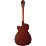 Seagull Coastline S12 Spruce Sunburst Cutaway Concert Hall 12 String Acoustic-Electric Guitar