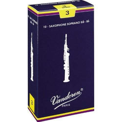 Vandoren Traditional Soprano Saxophone Reeds Box of 10