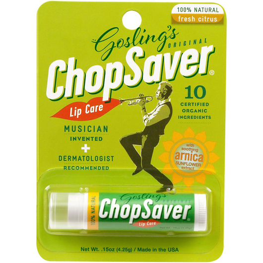 Goslings Chop Saver Lip Balm for Musicians