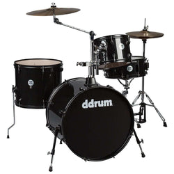 DDrum D2 Rock Kit Black Sparkle Complete Drum Set with Cymbals
