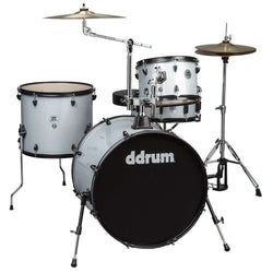 DDrum D2 Rock Kit Silver Sparkle Complete Drum Set with Cymbals