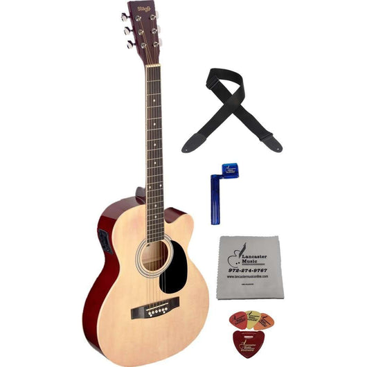 Stagg SA20ACE Auditorium Cutaway Acoustic-Electric Guitar Bundle