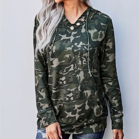 Camo Hooded Top