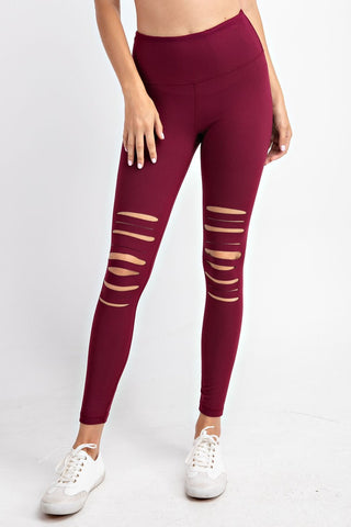 Burgundy Tia Slit Knee