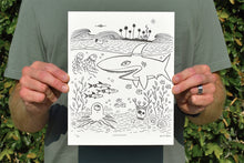 'Underwater' Limited Edition Letterpress Print