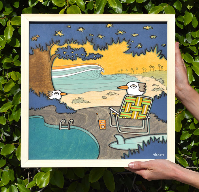 Poolside - Original Art