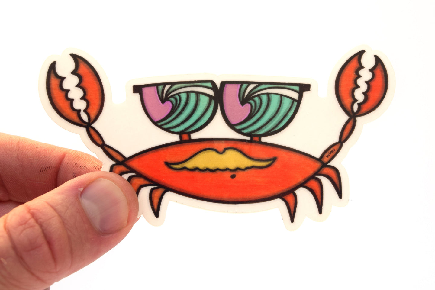 Crab Surf Check Sticker